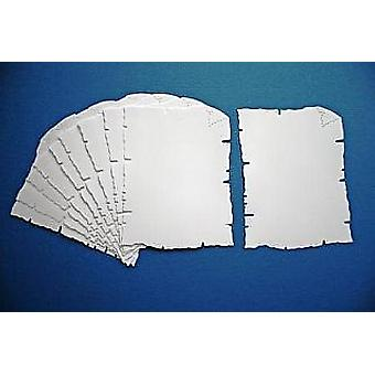 100 White Card Parchment Shapes for Kids Pirate Treasure Maps
