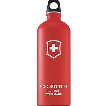 **SALE**Sigg Swiss Emblem 1.0L Bottle (Red Touch)