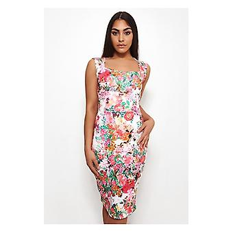 The Fashion Bible Biba Floral Bodycon Midi Dress