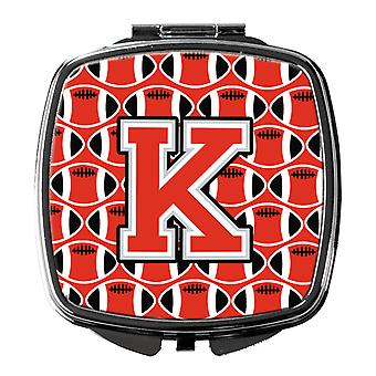Letter K Football Scarlet and Grey Compact Mirror