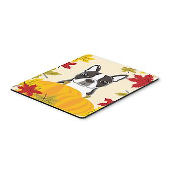 Boston Terrier Thanksgiving Mouse Pad, Hot Pad or Trivet