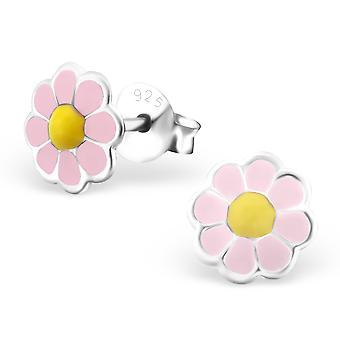 Flower - 925 Sterling Silver Colourful Ear Studs