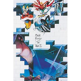 Pink Floyd en el álbum de la pared la pared álbum arte cartel Poster Print