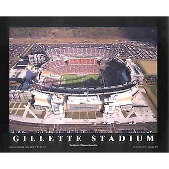 Gillette Stadium - Foxboro Massachusett Poster Print by Mike Smith (28 x 22)