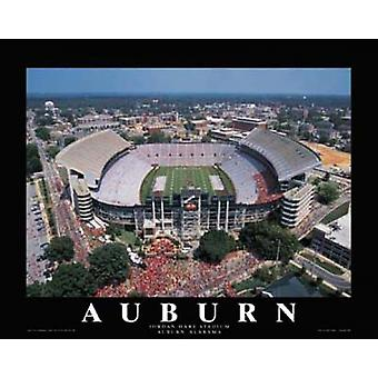 Auburn University - Jordan Stadium Aubu Poster Print by Mike Smith (28 x 22)