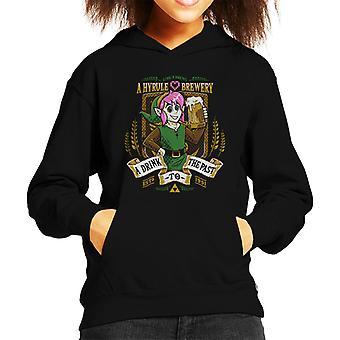 Legend Of Zelda Link A Drink To The Past Kid's Hooded Sweatshirt