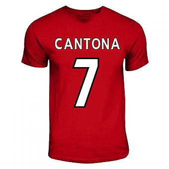 Eric Cantona Manchester United Hero T-shirt (red)