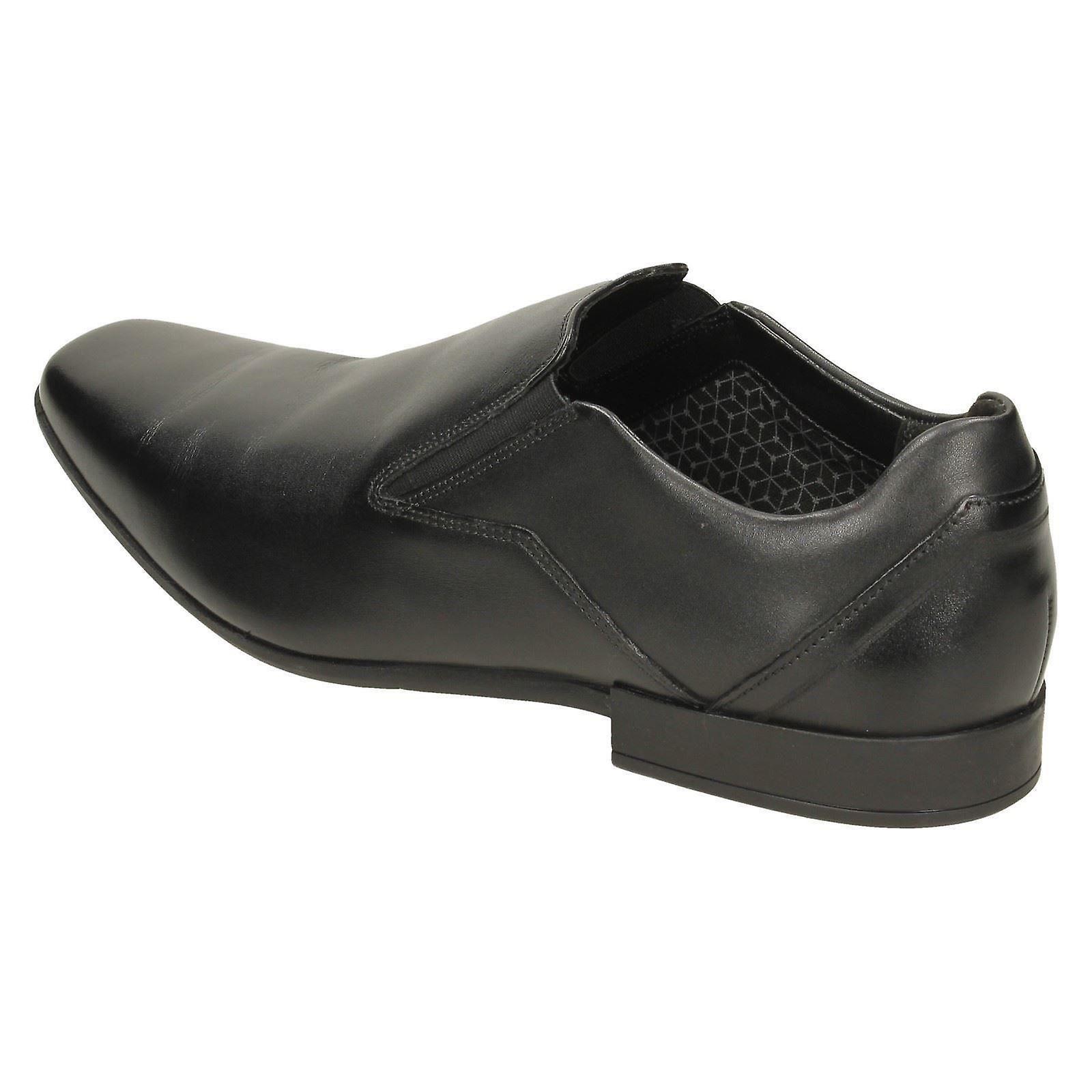 US Glement Black Leather Size Slip 43 Shoes 10M Formal UK 9G EU Size Mens Clarks Size wOqxffR