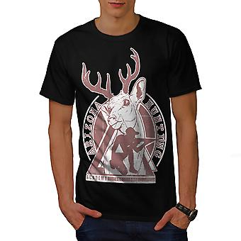 Arizona Hunting Men BlackT-shirt | Wellcoda