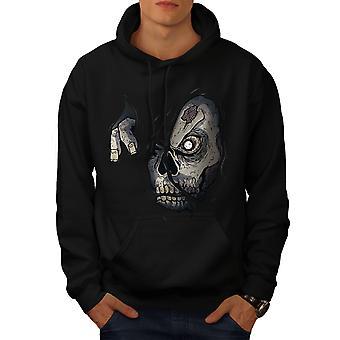 Zombie cranio uomini BlackHoodie | Wellcoda