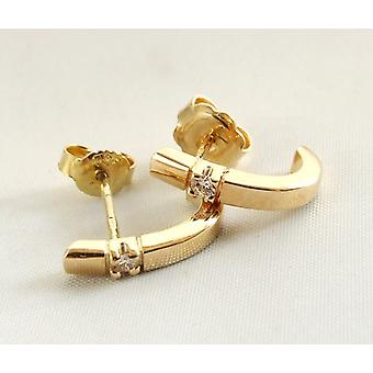 Yellow gold earrings with diamond