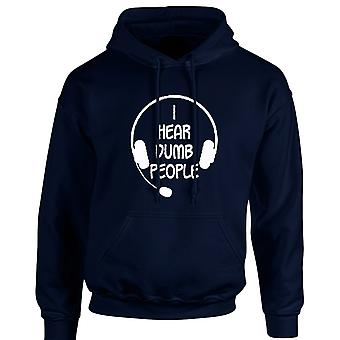 I Hear Dumb People Funny Unisex Hoodie 10 Colours (S-5XL) by swagwear