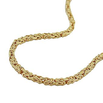 Necklace 3mm byzantine chain gold plated