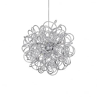 Ideal Lux Dust Artistic Silver Swirl Shade Ceiling Pendant 8 Light