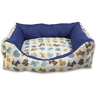 Arquivet Padded Bed Model Blue Puppies (Dogs , Bedding , Beds)