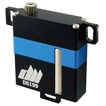 Digitale 25 g DS199, kernloze dunne HV metal gear Wing Servo