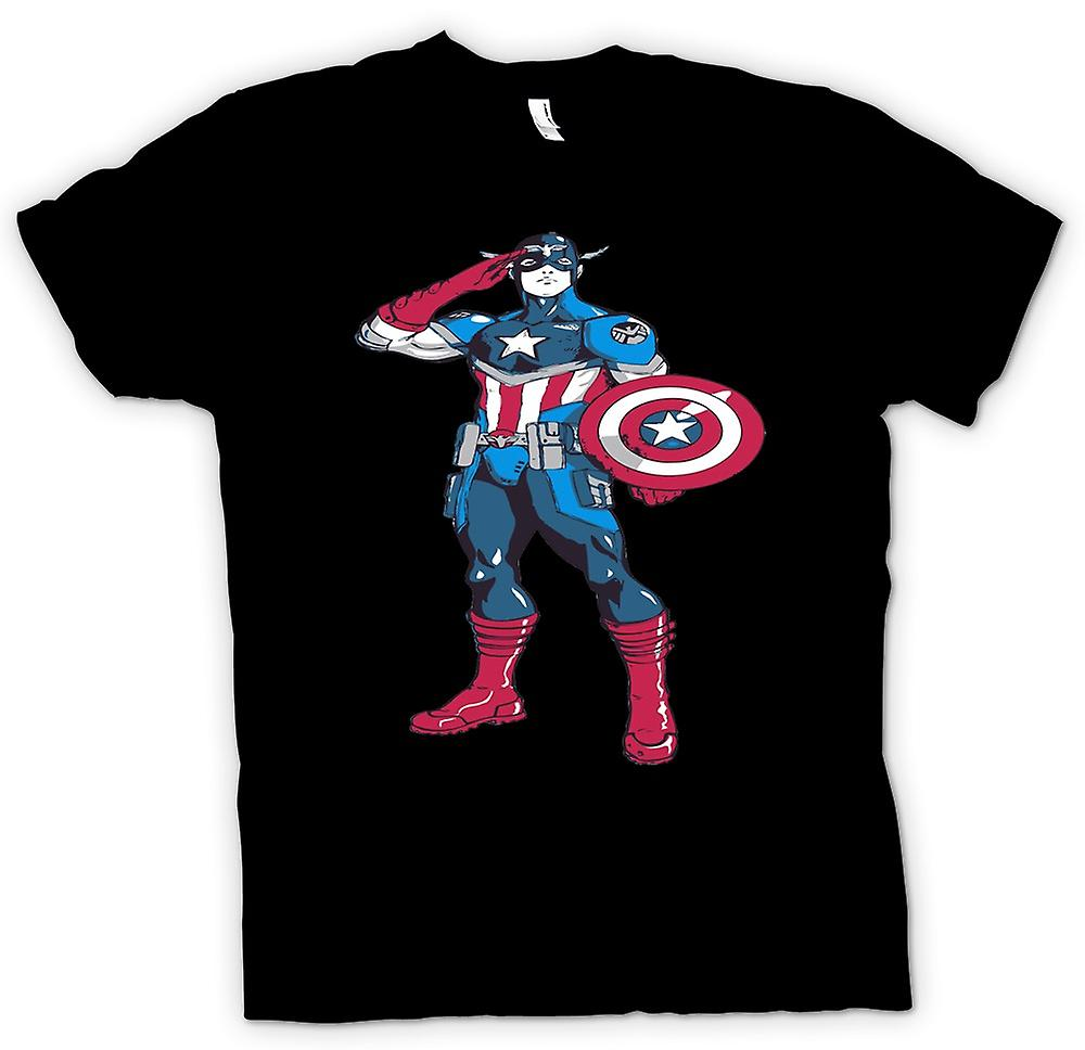 Womens T-shirt - Captain America Superhero - Sketch
