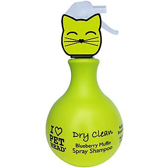 Pet Head Cat Dry Clean Spray Shampoo 450ml Blueberry Muffin