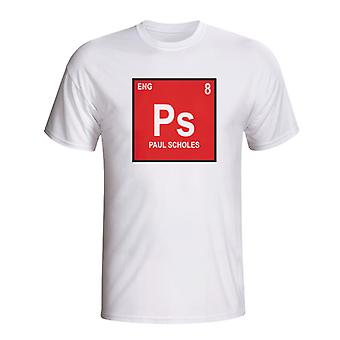 Paul Scholes England Periodic Table T-shirt (white)
