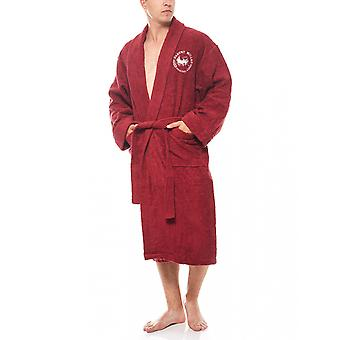 Harvey Miller Polo Club robe men Terry cloth red