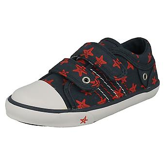 Childrens Boys/Girls Startrite Casual Shoes Zip - Navy Canvas - UK Size 12F - EU Size 30.5 - US Size 13