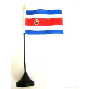 Costa Rica Tischfahne mit Stick und Base