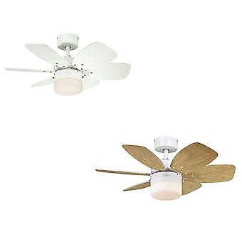 Westinghouse loft fan Flora Royal white med belysning
