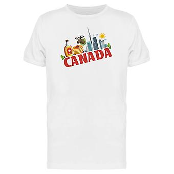 Canada Tourist Doodles Tee Men's -Image by Shutterstock