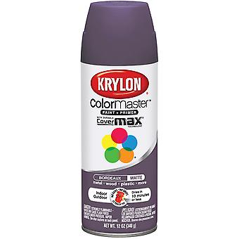 Colormaster Indoor/Outdoor Aerosol Paint 12Oz-Bordeaux Matte
