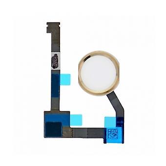 For iPad luft 2/Mini 4/Pro 12,9 - Home-knap Flex - hvid/guld