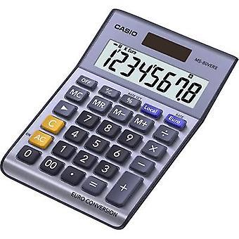 Desk calculator Casio MS-80VERII Purple-grey Display (digits): 8 solar-powered, battery-powered (W x H x D) 103 x 29 x 147 mm