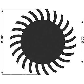 LED heat sink 1.75 C/W (Ø x H) 105 mm x 20 mm Fischer Elektronik SK 584 20 SA