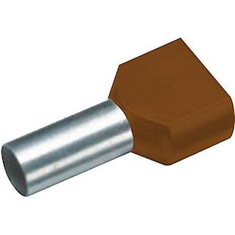 470814D Vogt Verbindungstechnik Twin ferrule 2 x 10 mm² x 12 mm Partially insulated Brown 100 pc(s)