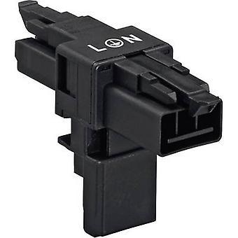 Mains T distributor Mains plug - Mains socket, Mains socket Total number of pins: 2 + PE White WAGO 1 pc(s)