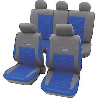 cartrend 60120 Active Seat covers 11-piece Polyester Blue Driver's seat, Passenger seat, Back seat