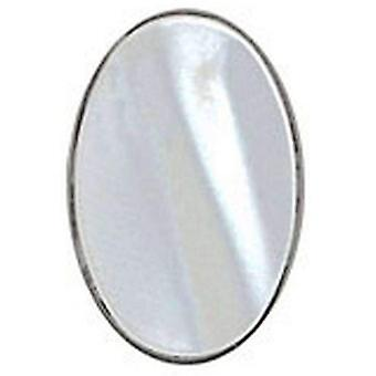 David Van Hagen Mother of Pearl Oval Sterling Silver Tie Tac - Silver