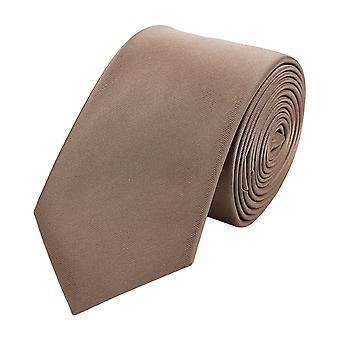 Schlips Krawatte Krawatten Binder Schmal 6cm Braun Bronze Uni Fabio Farini
