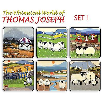 Thomas Joseph - Set of 6 Coasters (Set 1)