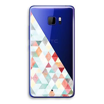 HTC U Ultra Transparent Case (Soft) - Coloured triangles pastel