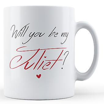 Decorative Writing Will You Be My Juliet? Valentines Day Mug