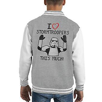 Opprinnelige Stormtrooper jeg elsker Troopers dette mye barneklubb Varsity jakke
