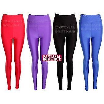 Ladies American Style Disco hög midja Glänsande PVC Kvinnors Leggings Byxor