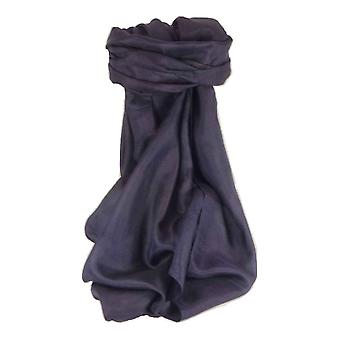 Mulberry Silk Hand Dyed Square Scarf Dark Blue from Pashmina & Silk