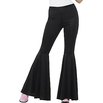 Flared Trousers, Ladies, Black
