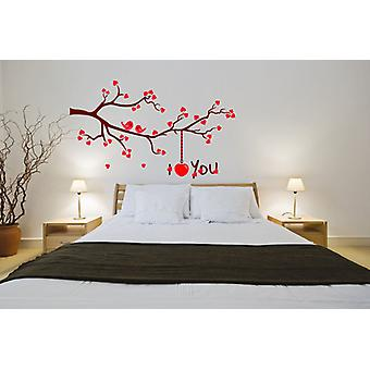 Full Colour I Love You Branch Bedroom Wall Sticker
