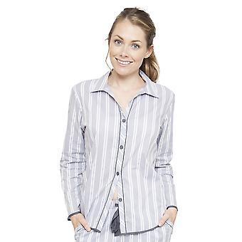 Cyberjammies 4077 Frauen Chloe grau gestreiften Pyjama Top