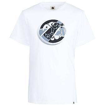 Pretty Green White Circular Print T-shirt