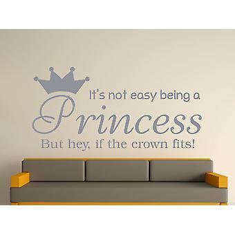 Being A Princess Wall Art Sticker - Silver