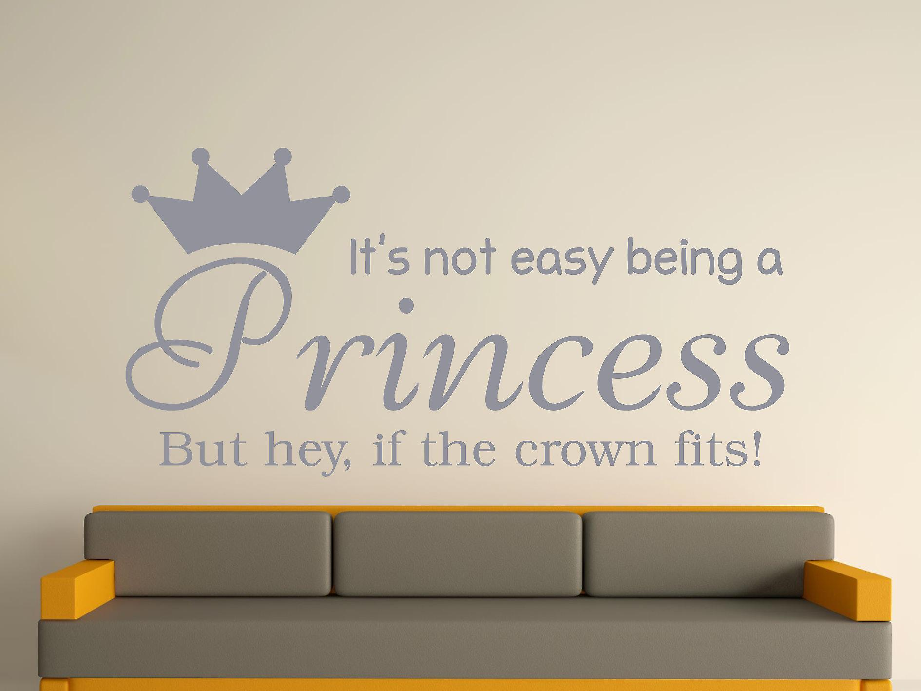 Being A Princess Wall Art Sticker - Silver
