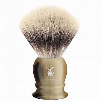 Muhle Horn Synthetic Fibre Silvertip Shaving Brush (Medium)